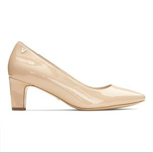 Bionic Nude Patent Leather Mia pump heels